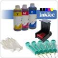 HP22(XL) kleuren inktpatroon navullen. Een complete navulset (NVS3-22+)