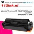HP 413A CF413A Magenta huismerk tonercartridge
