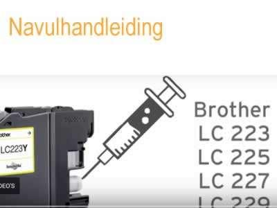 Navulhandleiding voor Brother LC223 tm LC229 inktpatronen
